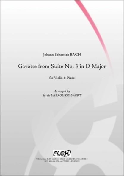 Gavotte de la Suite No. 3 en Ré Majeur - J. S. BACH - Violon et Piano
