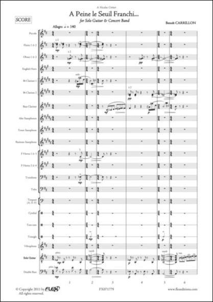 A Peine le Seuil Franchi... - B. CARRILLON - Guitare Solo et Orchestre d'Harmonie