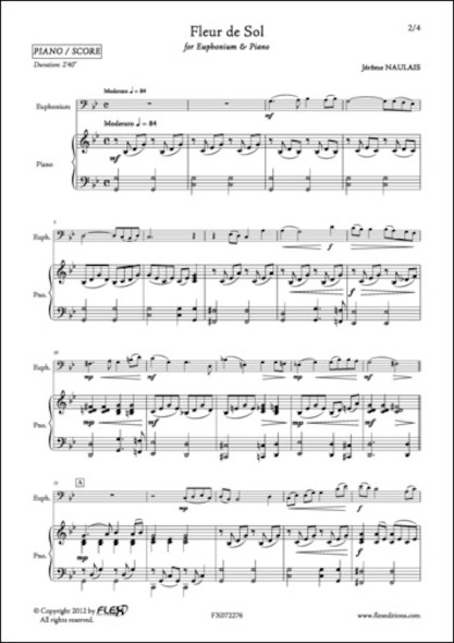 Fleur de Sol - J. NAULAIS - Euphonium et Piano