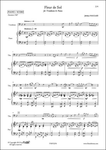 Fleur de Sol - J. NAULAIS - Trombone et Piano
