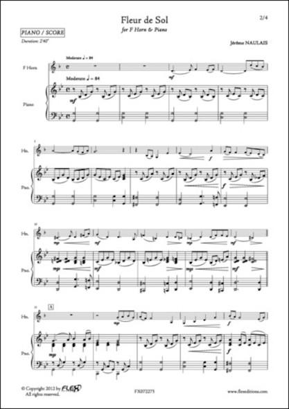 Fleur de Sol - J. NAULAIS - Cor en Fa et Piano