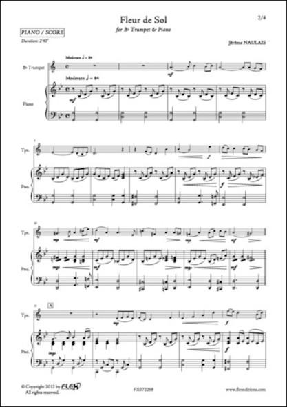 Fleur de Sol - J. NAULAIS - Trompette et Piano