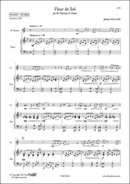 Fleur de Sol - J. NAULAIS - Clarinette et Piano