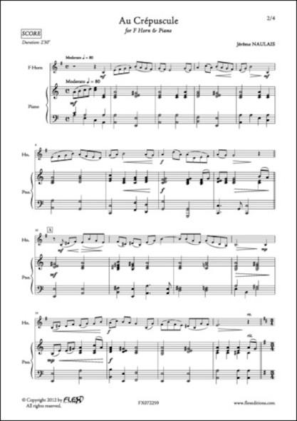 Au Crépuscule - J. NAULAIS - Cor en Fa et Piano