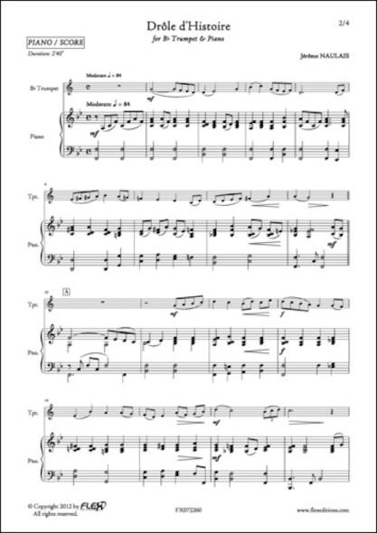 Drôle d'Histoire - J. NAULAIS - Trompette et Piano