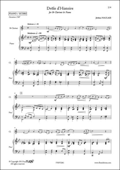 Drôle d'Histoire - J. NAULAIS - Clarinette et Piano