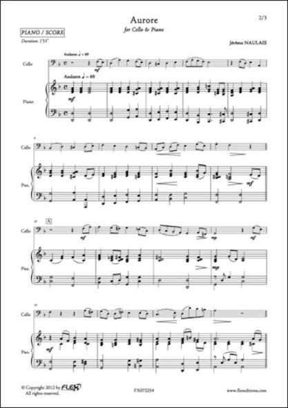 Aurore - J. NAULAIS - Violoncelle et Piano