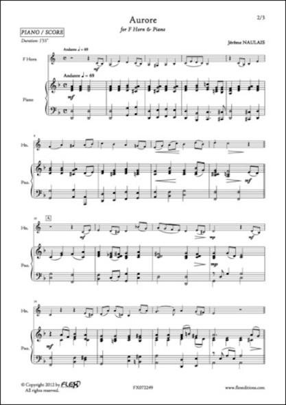 Aurore - J. NAULAIS - Cor en Fa et Piano