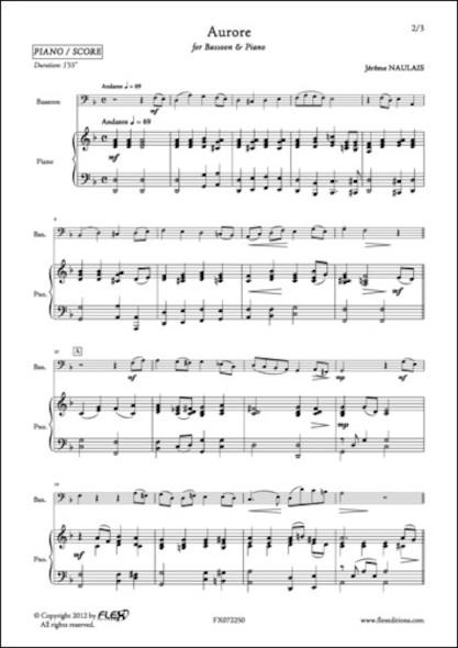 Aurore - J. NAULAIS - Basson et Piano