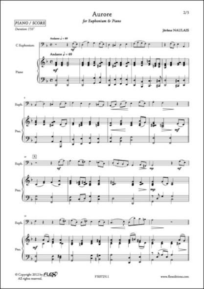 Aurore - J. NAULAIS - Euphonium et Piano