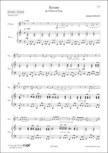 Savane - J. NAULAIS - Cor & Piano