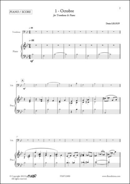 Mes Premiers Morceaux pour Trombone et Piano - D. LELOUP - Trombone et Piano