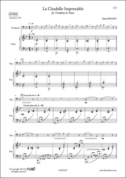 La Citadelle Imprenable - P. PROUST - Trombone et Piano