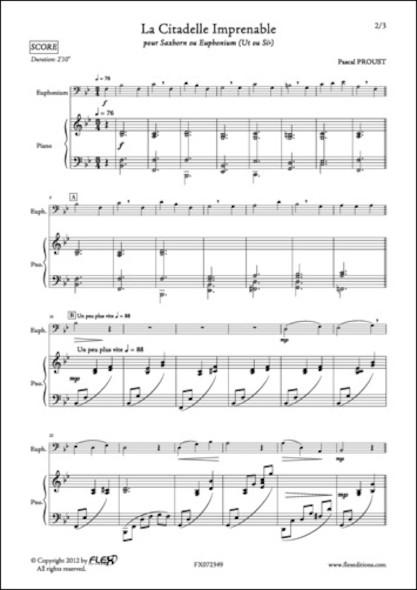 La Citadelle Imprenable - P. PROUST - Euphonium/Saxhorn et Piano