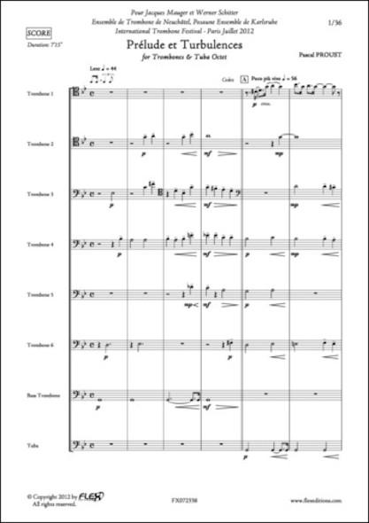 Prélude et Turbulences - P. PROUST - Octuor de Trombones et Tuba