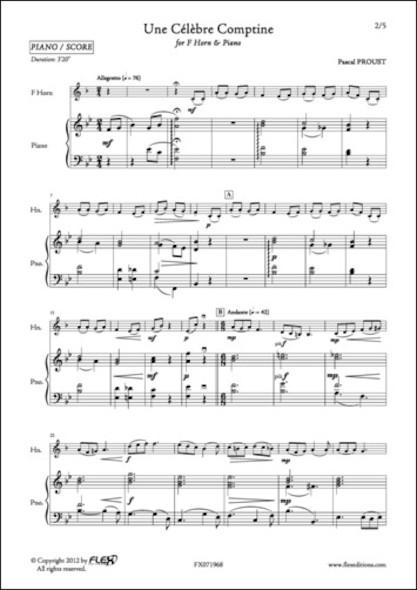Une Célèbre Comptine - P. PROUST - Cor en Fa et Piano