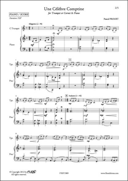 Une Célèbre Comptine - P. PROUST - Trompette et Piano