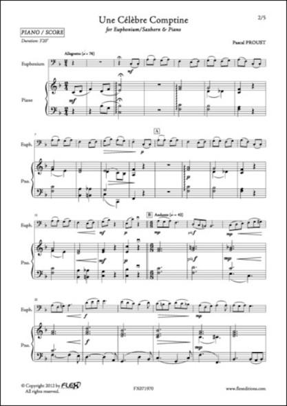 Une Célèbre Comptine - P. PROUST - Euphonium/Saxhorn et Piano