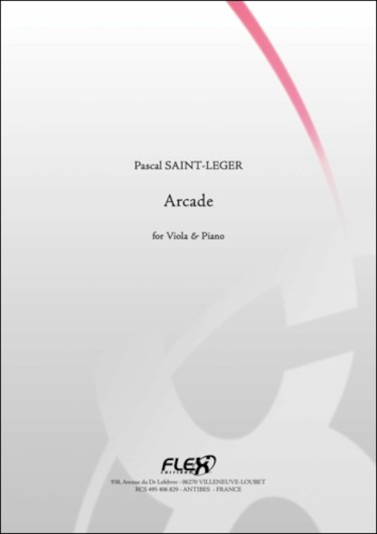 Arcade - P. SAINT-LEGER - Alto et Piano