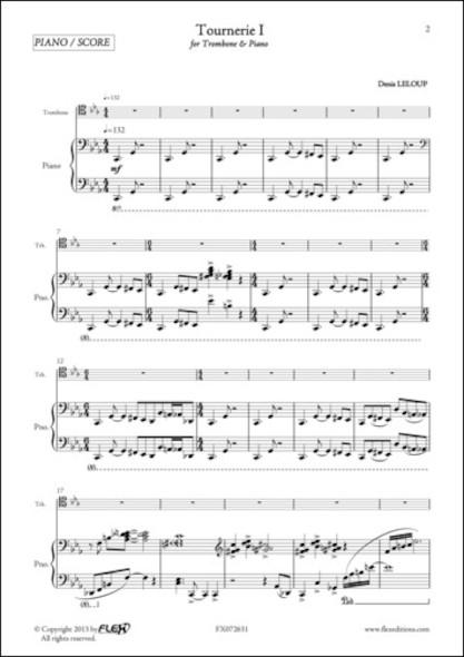 Tournerie I - D. LELOUP - Trombone et Piano